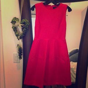 Ivanka Trump bright coral dress